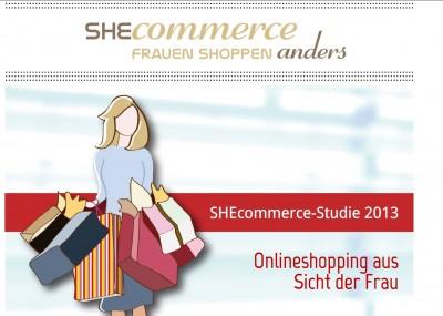 Frauen shoppen online