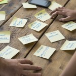 Postit Content-Strategie Themenplan Redaktionsplan