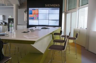 Siemens Newsroom Redaktionsraum