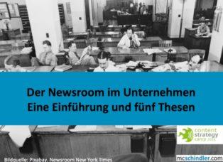 Newsroom Einführung und Thesen Marie-Christine Schindler mcschindler