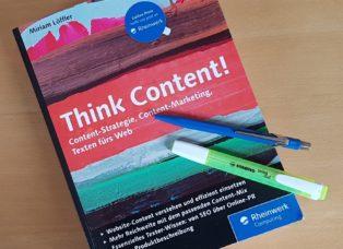 Think Content Miriam Löffler Cover Rezension Fachbuch
