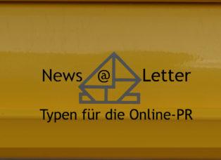 Online-PR Newsletter-Typen