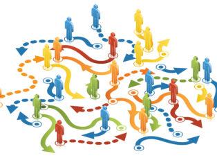 Menschen Wege Networking