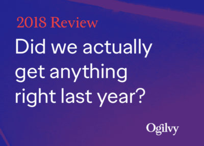 Ogilvy Trends 2019 Augmented Reality AR Spracherkennung Voice Influencer Marketing Amazon