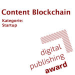 Digital Publishing Award 2019 Content Blockchain Startup