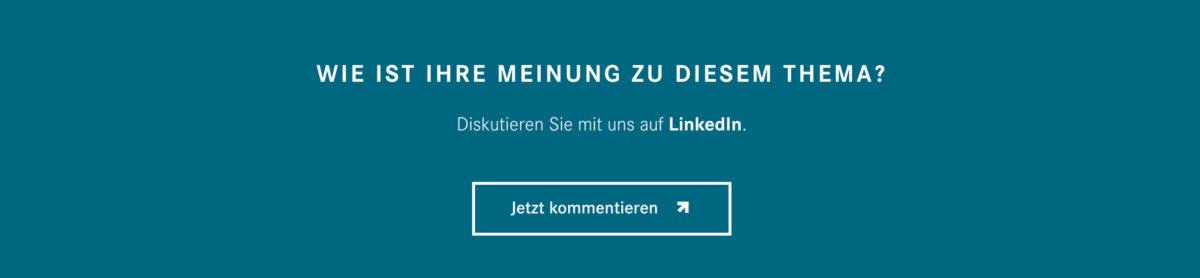 Kommentare im Daimler Magazin werden auf Linkedein umgeleitet