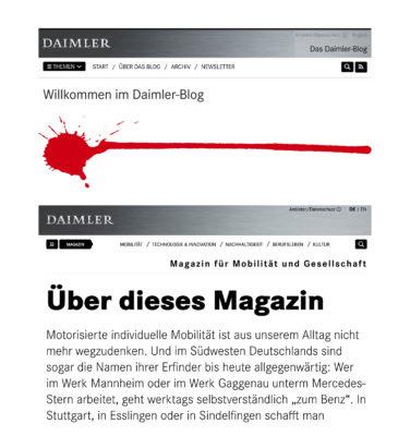 Daimler hat im November 2019 den Corporate Blog zu Gunsten des Magazins abgelöst