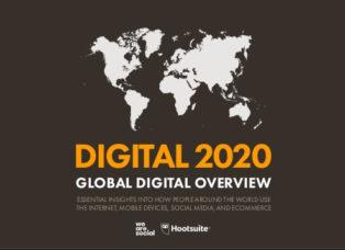 Digital 2020 globale Nutzungszahlen des Internet