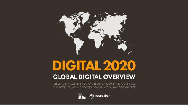 Digital 2020: Zahlen zur globalen Nutzung von Smartphones, Internet und Social Media