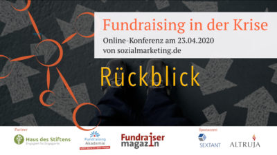 Fundraising in der Krise sozialmarketing.de