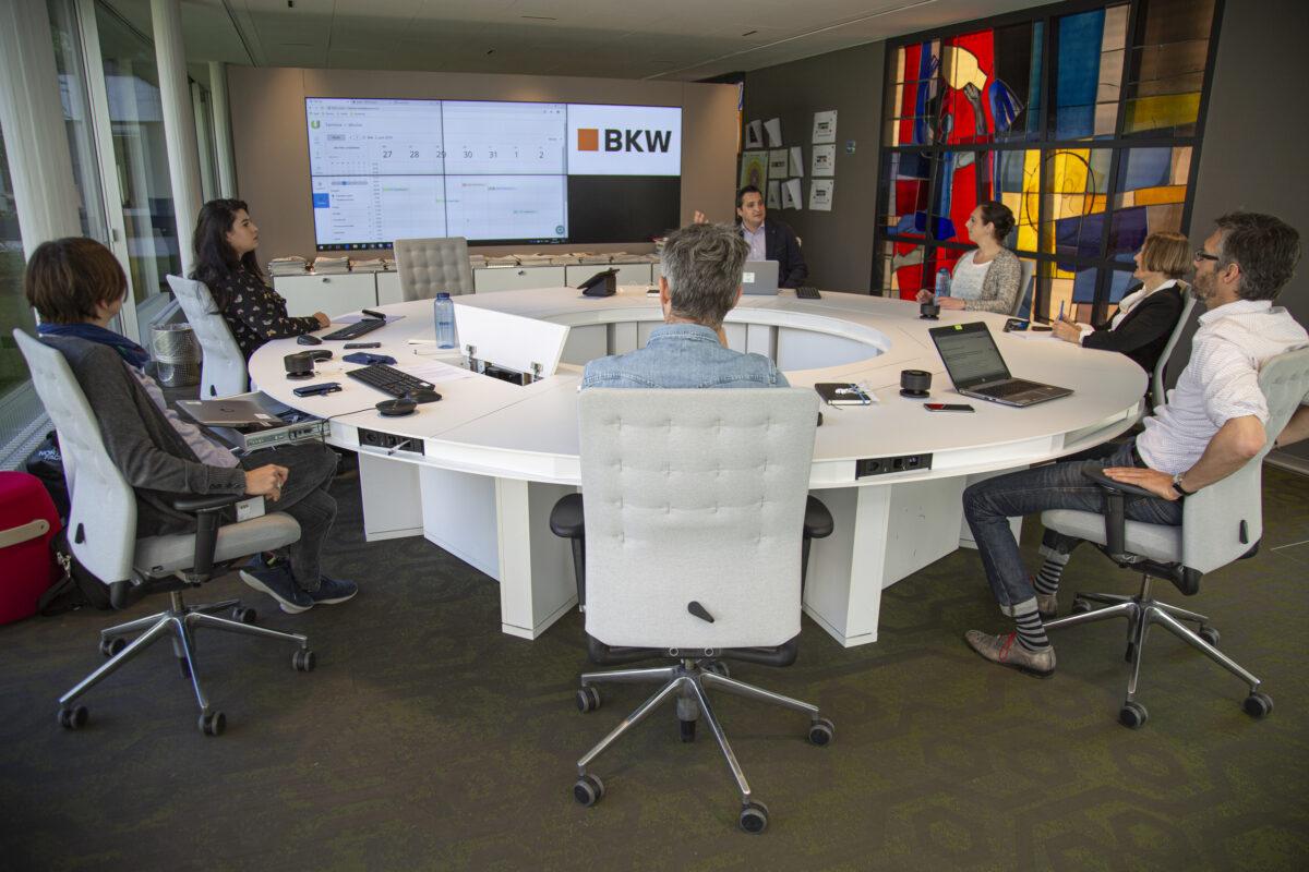 BKW-Newsroom Innenansicht