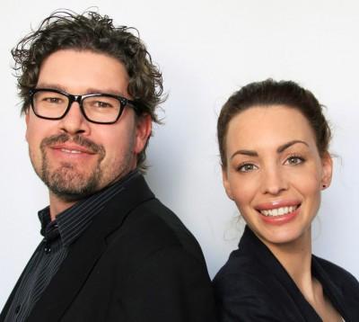Christian Schenkel (Leiter Onlineredaktion Post) und Sarah Nünlist (Social-Media-Redaktorin Post)