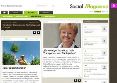 Kuhn Kammann Social Magazine Screenshot
