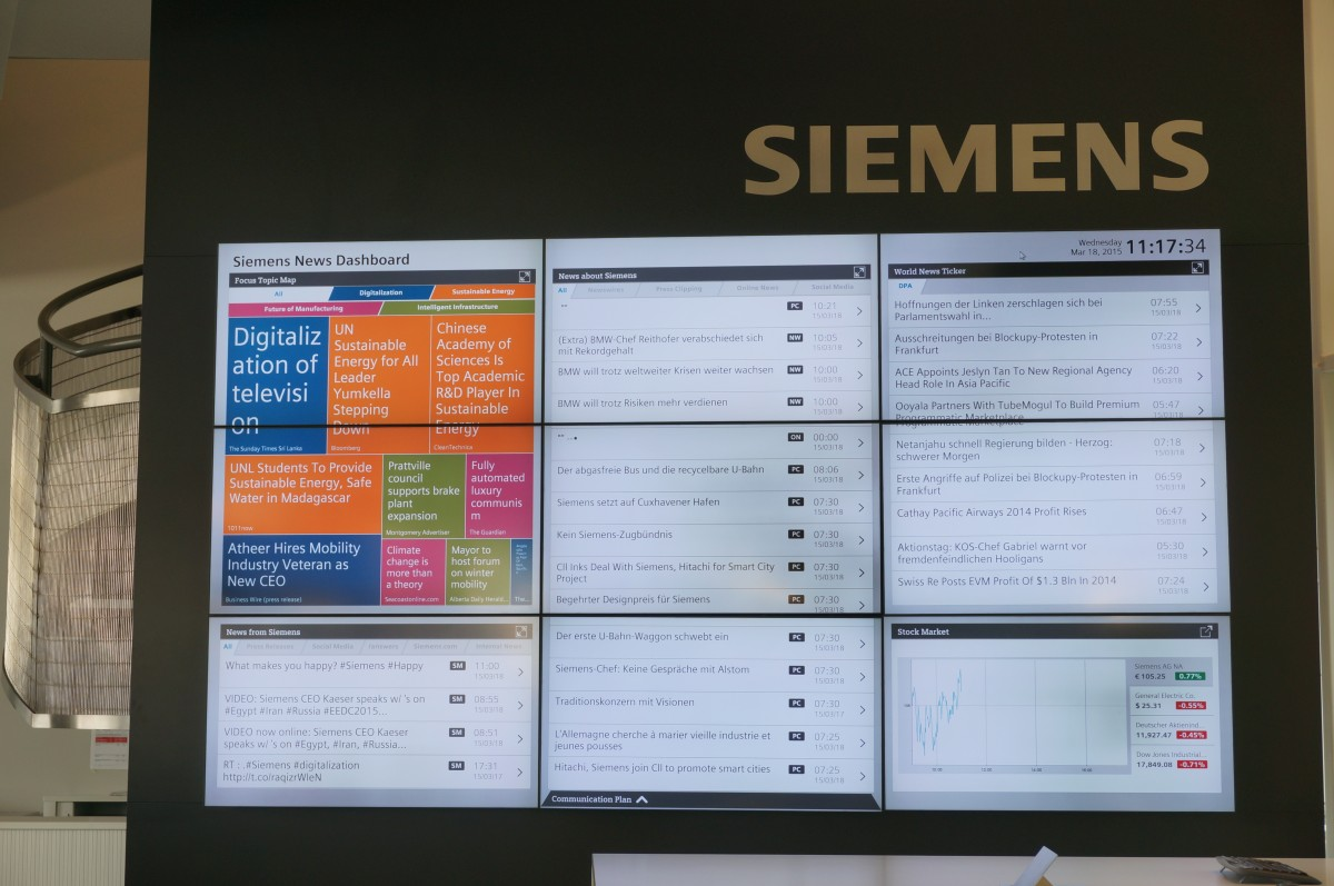 Siemens Newsroom Screen 4215